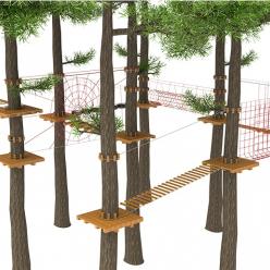 Веревочные парки на деревьях