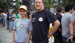 Nini Xeladze с компанией TROPA на открытии скейт-парка в Кутаиси
