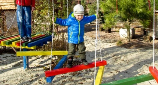 детский веревочный парк для детского сада