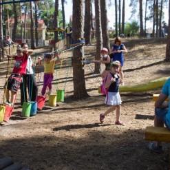 детский веревочный парк лазалка
