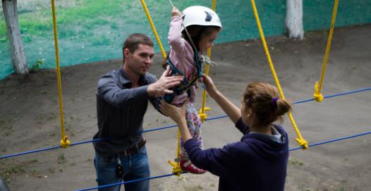 веревочный парк для малышей