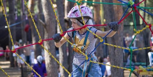 детский веревочный парк юный альпинист