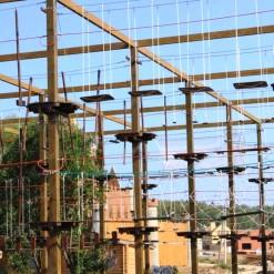 проектирование веревочный парк на опорах