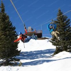 Зиплайн на горнолыжном курорте