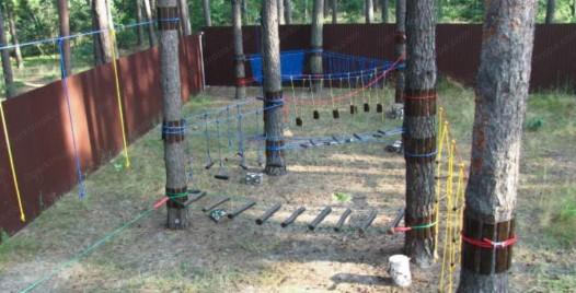 купить детский веревочный парк лазалка