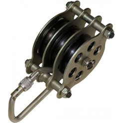 Krok three roller pulley block
