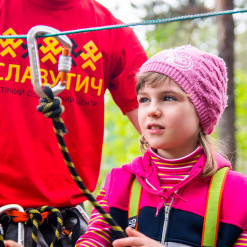 Rope park for children's camp Slavutich, Kiev, 2016