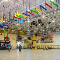 Подвесной веревочный парк для развлекательного центра