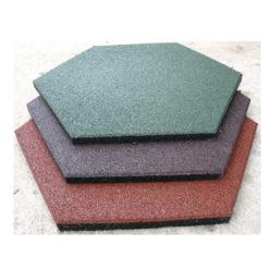 Покрытие для детских площадок — плитка резиновая шестиугольная