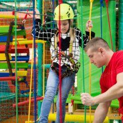 Веревочный парк на опорах для детского центра