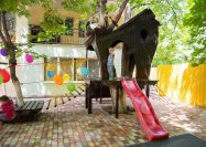 Домик на дереве, канатная пирамида и веревочный парк для детского сада, Одесса 2018