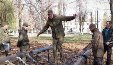 Полоса препятствий для воинской части