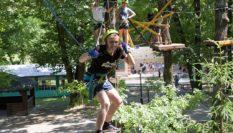 Высокий веревочный парк для детского лагеря, Полтава 2019