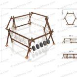 Детский игровой канатный комплекс «Геометрия»