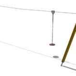 Детская канатная дорога Zipline на искусственных опорах