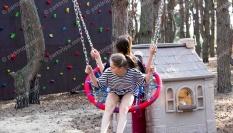 Спортино-развивающая детская площадка для загородного комплекса