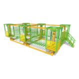 Модульный веревочный парк с сетчатой страховкой, 7 этапов