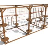 Модульный веревочный парк, 20 этапов