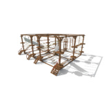 Модульный веревочный парк, 24 этапа