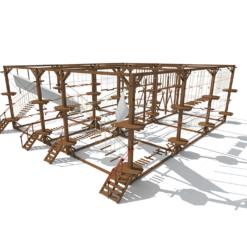 Модульный веревочный парк, 32 этапа