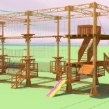 Веревочный парк на опорах 21 этап