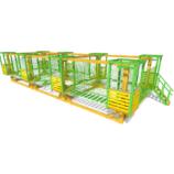 Модульный веревочный парк с сетчатой страховкой, 10 этапов