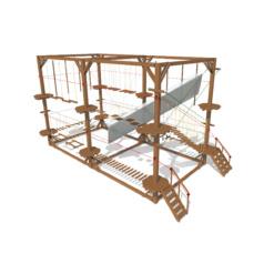 Модульный веревочный парк, 12 этапов