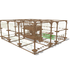 Модульный веревочный парк, 28 этапов