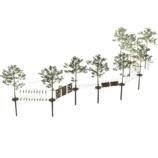Высокий веревочный парк на 10 этапов