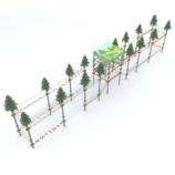 Веревочный парк на 30 этапов