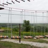 Веревочный парк на опорах 23 этапа