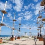 Веревочный парк на опорах Пиратский корабль